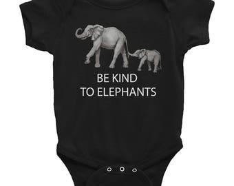 Be Kind To Elephants Infant Bodysuit