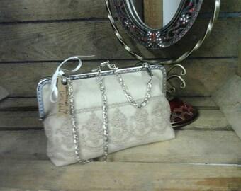 Evening bag. Clutch bag. Wedding bag. Wedding handbag. Wedding clutch bag. Bag with kiss clasp. Bag with frame. Small handbag. Small purse.