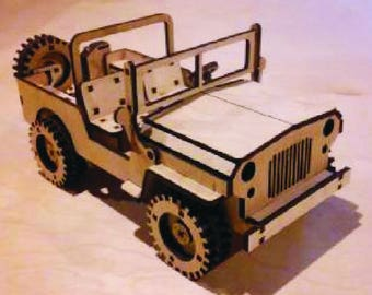 Little Wooden Jeep Willys