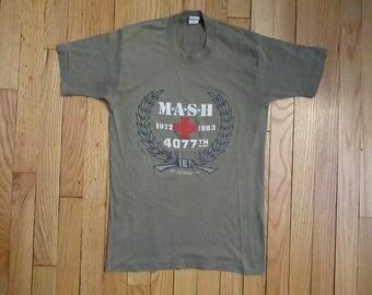 Rare Vintage 1983 MASH M*A*S*H Army Medical Thin Tv Show T-Shirt