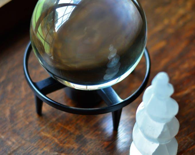 MODERN DISPLAY STAND display stand for crystal sphere, orb stand, gemstone display, black display stand, sphere stand, crystal display