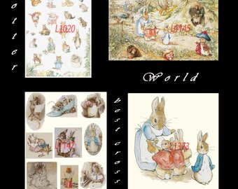beatrix potter counted Cross Stitch special offer 4 patterns 1020, 1145, 1147, 1373 beatrix potter Pattern pdf files - L1404