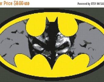 "Batman Vs Jocker Counted Cross Stitch Batman Pattern chart pdf file modern cross stitch needlepoint -21.71"" x 11.43"" - L1267"