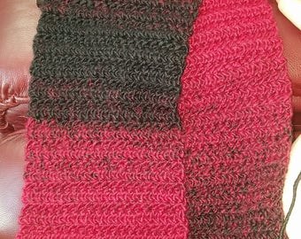 Black&Red Ombre Scarf