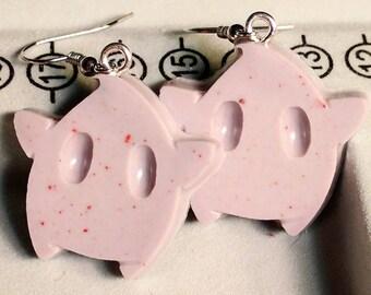 Luma Earrings - Star Earrings - Speckled Purple Earrings - Gamer Earrings - Mario Earrings