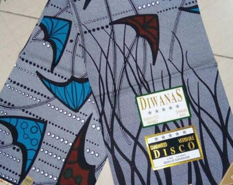 African print fabric by wholesale/Hot kitenge fabric, Ankara /flower designs african fabric by 6 yards/ gray fabric material
