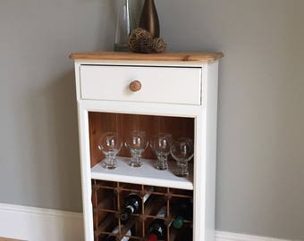Solid Pine Painted Wine Rack (delivery quote available on request)