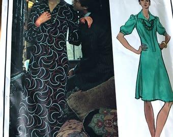 Maxi or Knee Length Dress by Yves Saint Laurent---Vogue Paris Original 2885---Size 12  Bust 34  UNCUT