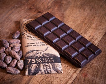 75% Single Origin, Belize, Vegan Dark Chocolate