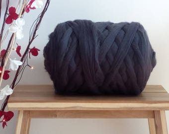 Graphite Grey 100% Wool Tops Roving Felting Spinning 50g - 1kg