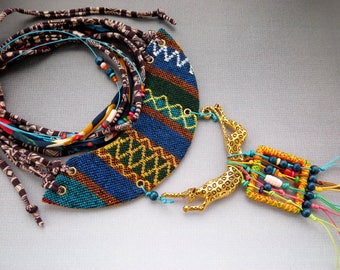 African style jewelry, Tribal style collar, African style