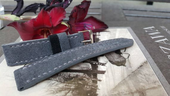 Italian Suede Watch Strap - Handmade 05