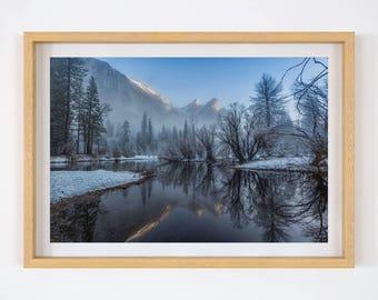 Yosemite National Park Art Print: Three Brothers Yosemite Park, Landscape Photography Print, Yosemite Wall Print, Yosemite Park Photography