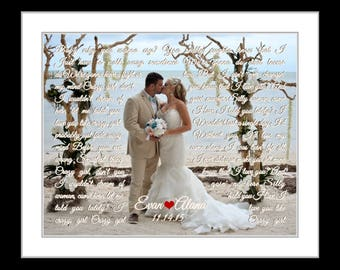 Anniversary gifts for couples, anniversary gift with wedding song art or vows, 1st anniversary gift, paper anniversary gifts, wedding gifts