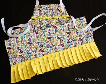Thongs, Jandals women's apron. Handmade.