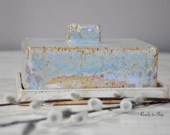 Pottery, Butter Dish, Butter Holder, Butter Crock, Butter Stick Holder, Functional Pottery, Ceramic, Handmade, Butter Keeper, Rectangular