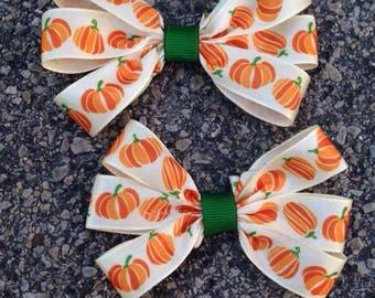 Pumpkin Hair Bow