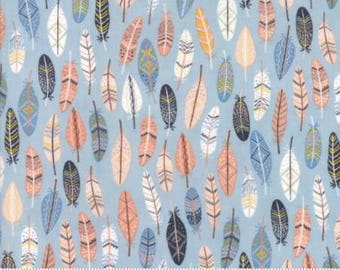 1 Yard Wild and Free by Abi Hall for Moda- 35315-15 Sky