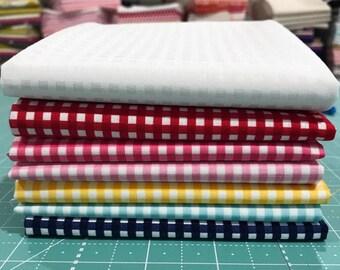 "Fat Quarter  Bundle 1/8"" Gingham by Riley Blake Designs- 7 Fabrics"