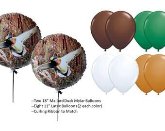 Mallard Duck Mylar Balloon Set
