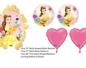 Beauty and the Beast Balloon Set, Belle Balloons