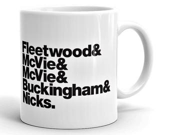 Fleetwood Mac Rock Band Mug