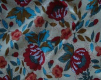 fabric flower vintage polyester beige background