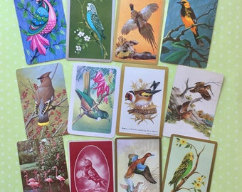 Vintage Playing Cards- For The Birds