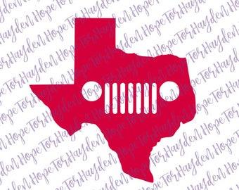 Texas Jeep wrangler SVG | Texas Jeep | Jeep decal | Jeep SVG | yj cj tj zj xj jk wk Jeep