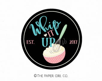 whisk logo baking logo bakery logo bakers logo cooking logo premade logo cafe logo cake logo cupcake logo bespoke logo food blog logo