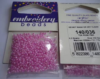 seed fine embroidery (036) 2mm pink