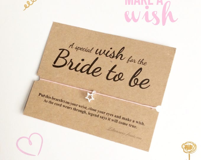 Wish bracelet | A special wish for the bride to be | Brides gift | Wedding party Gift | Can be personalised.