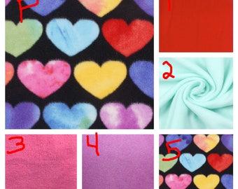 Hearts - Teen/Adult Fleece Weighted Blanket
