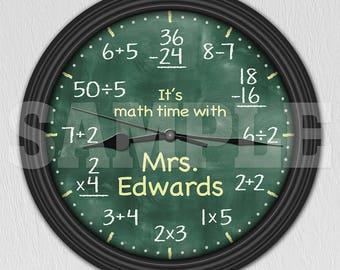Math Equation Chalkboard Elementary Personalized Decorative Wall - Teacher Gift ITEM#017