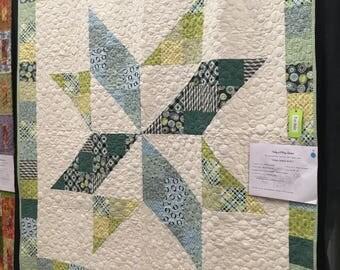 SALE Handmade Modern Star Quilt