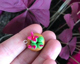 Mini cactus pendant/charm