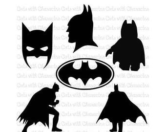 ON SALE Batman silhouettes svg pack SVG Dxf and Png Files for Cutting Machines Silhouette, Cricut or Scan 'N' Cut