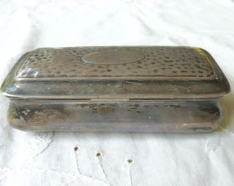 Antique English sterling snuff box