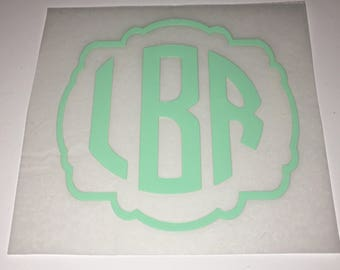 Iron On Monogram / Decal / Personalization / frame monogram / iron on decal / iron on / iron on monogram decal