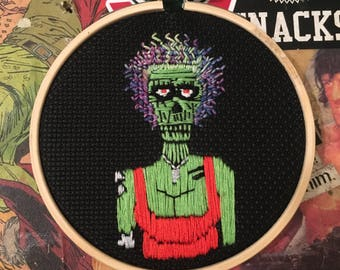 The Return of the Living Dead Zombie Punk Girl Embroidery