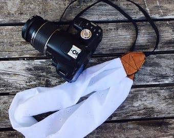 Strap camera strap camera scarf for camera, gift, made in france