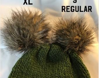 Faux Fur Pompom/Light Brown Pompom/Fake Fur Pompom/Pompom for hats