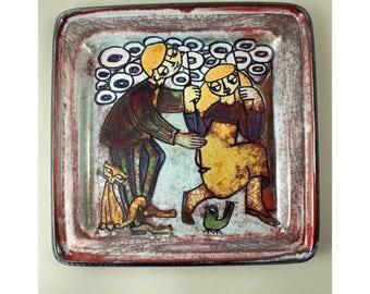 Large Platter. Persia Glaze, Marianne Starck for Michael Andersen, Denmark, 1960's,  Scandinavian Art Pottery
