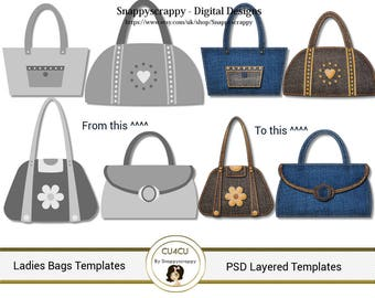 Handbags  Photoshop Layered Templates, PSD Layered Templates
