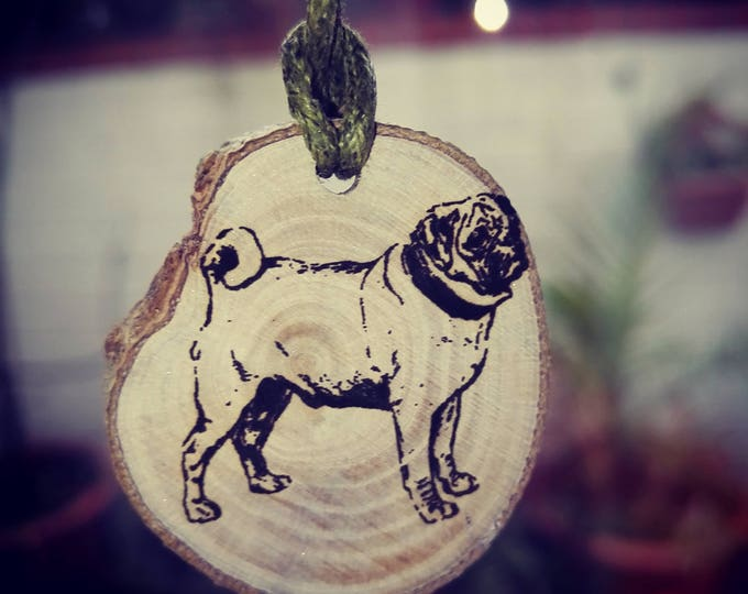 Wooden Personalized Custom Novelty Key Fob Pug Dog Cat Pagan Celtic Various Scented Car Air Freshener Christmas Gift