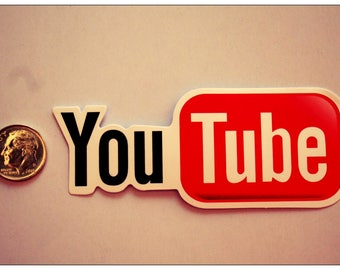 Youtube Sticker The Best Quality Social Media Free Shipping