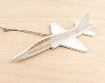 Wooden T-38 Talon Jet Christmas Ornament