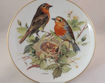 """Robin Collectors Plate, WWF Songbirds of Europe by Ursula Band – 8"""""""