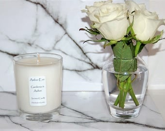 Gardenia & Amber Scented Candle