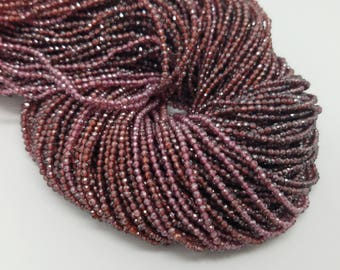 2 mm , Garnet Micro Faceted , 13 Inch